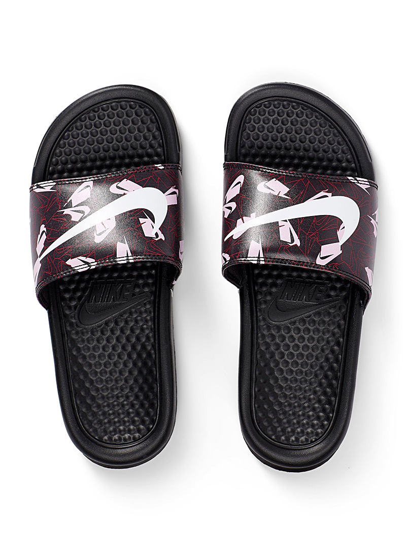 Nike Black Benassi mosaic slides  Women for women