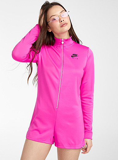 Nike Pink Logo cyclist romper for women