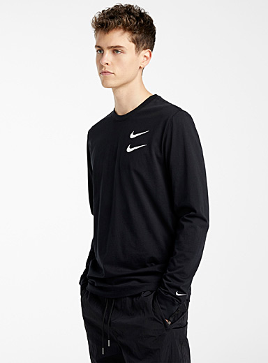 Nike Black Double Swoosh T-shirt for men