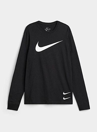Triple Swoosh long-sleeve tee