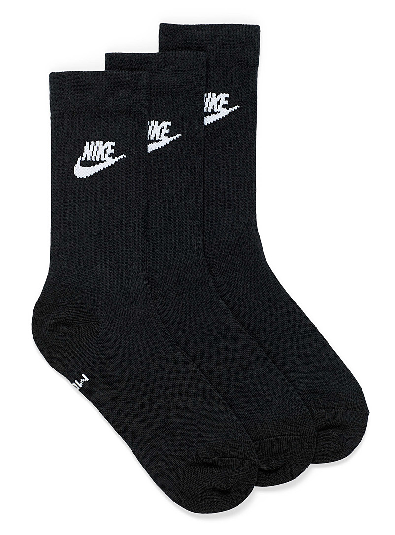 Ribbed ankle athletic socks Set of 3