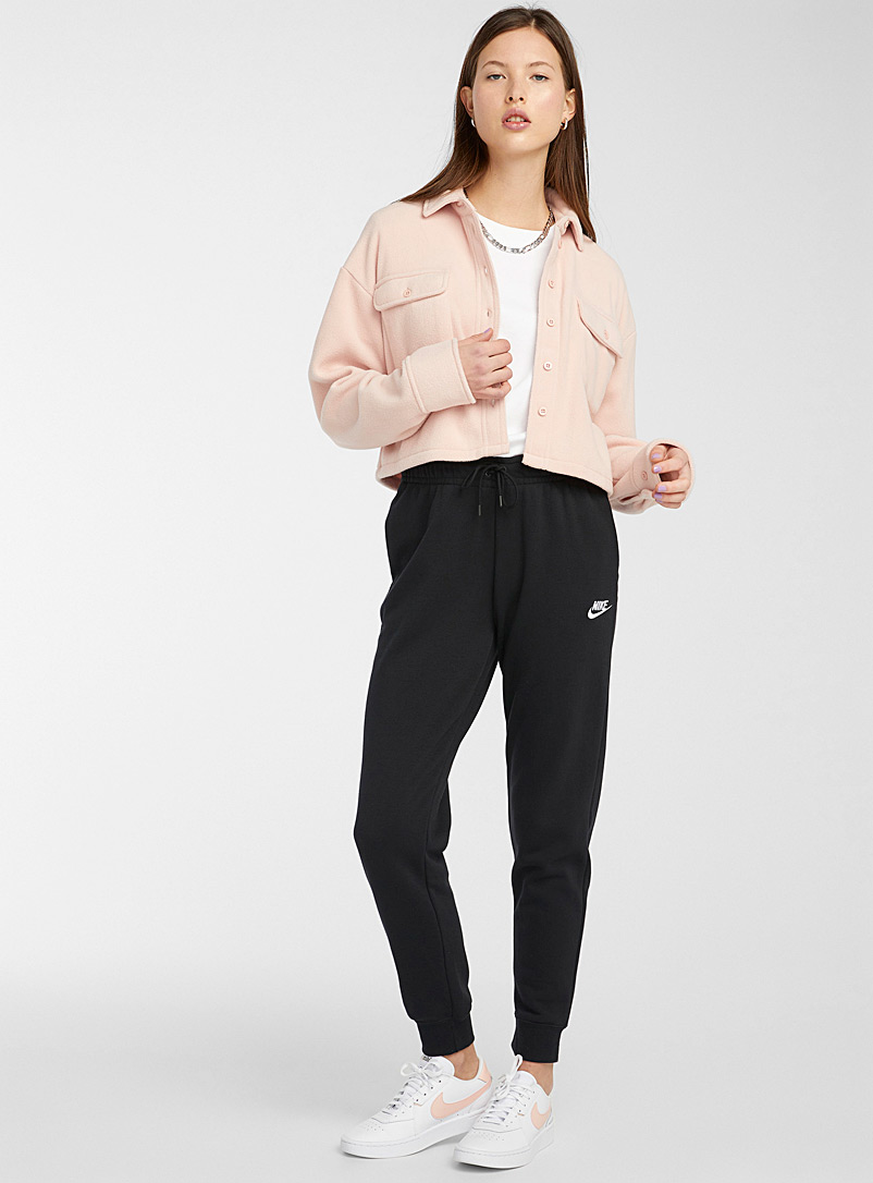 Nike Black Swoosh logo joggers for women