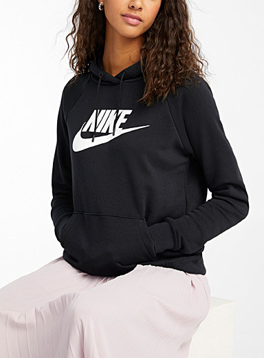 Nike Black Basic logo hoodie for women