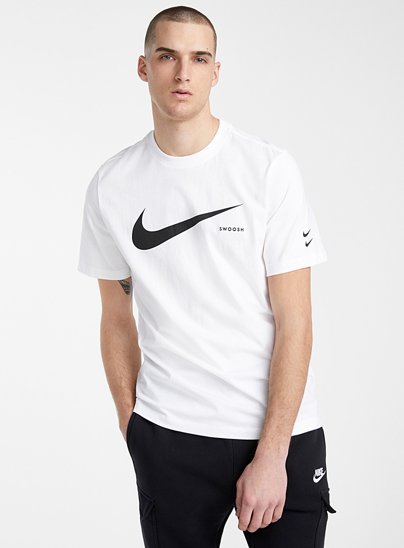 Nike White Swoosh logo T-shirt for men