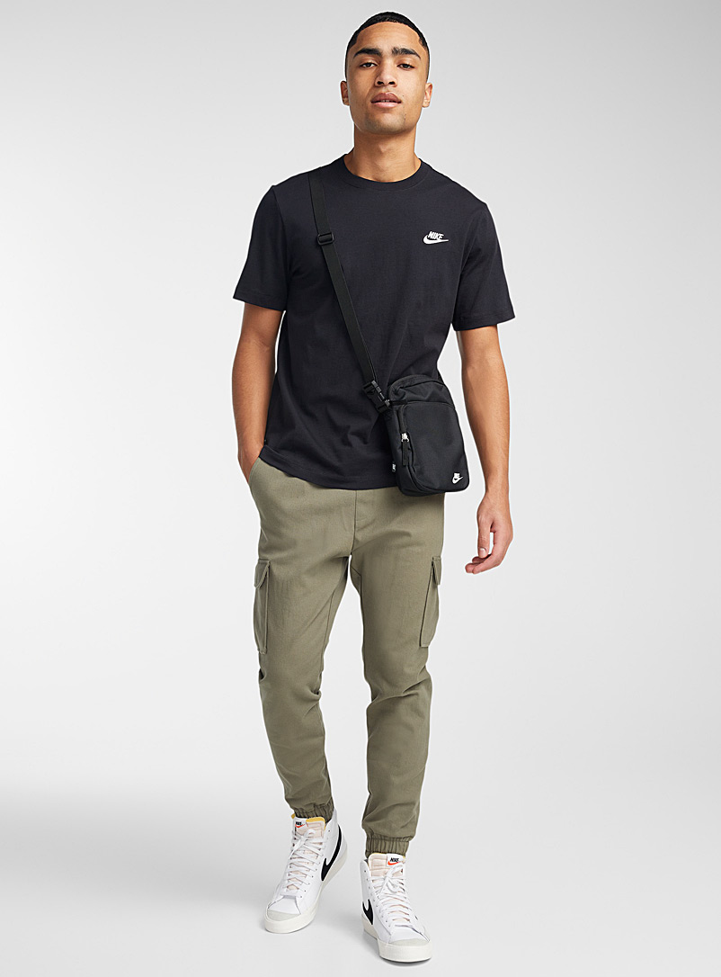 Nike Cream Beige Embroidered Swoosh T-shirt for men