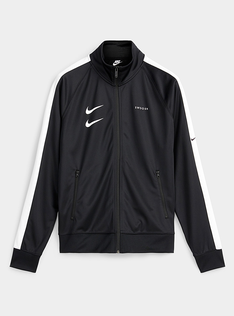 Nike Black Double Swoosh track jacket for men