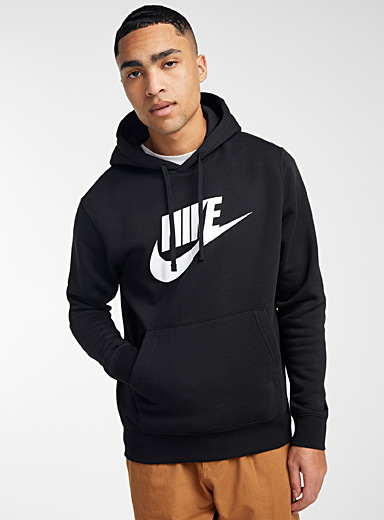 Nike Black Classic logo hoodie for men