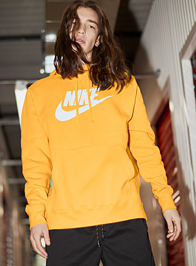 Nike Golden Yellow Classic logo hoodie for men