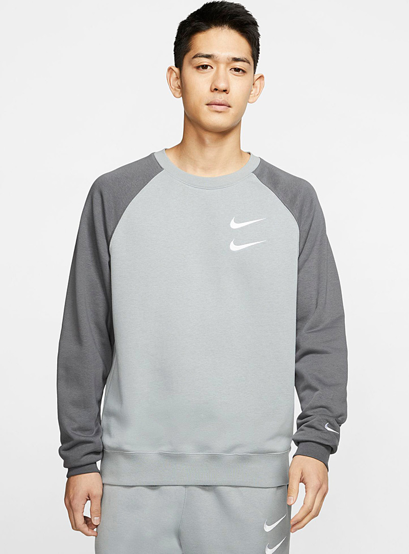 Nike Grey Double logo sweatshirt for men