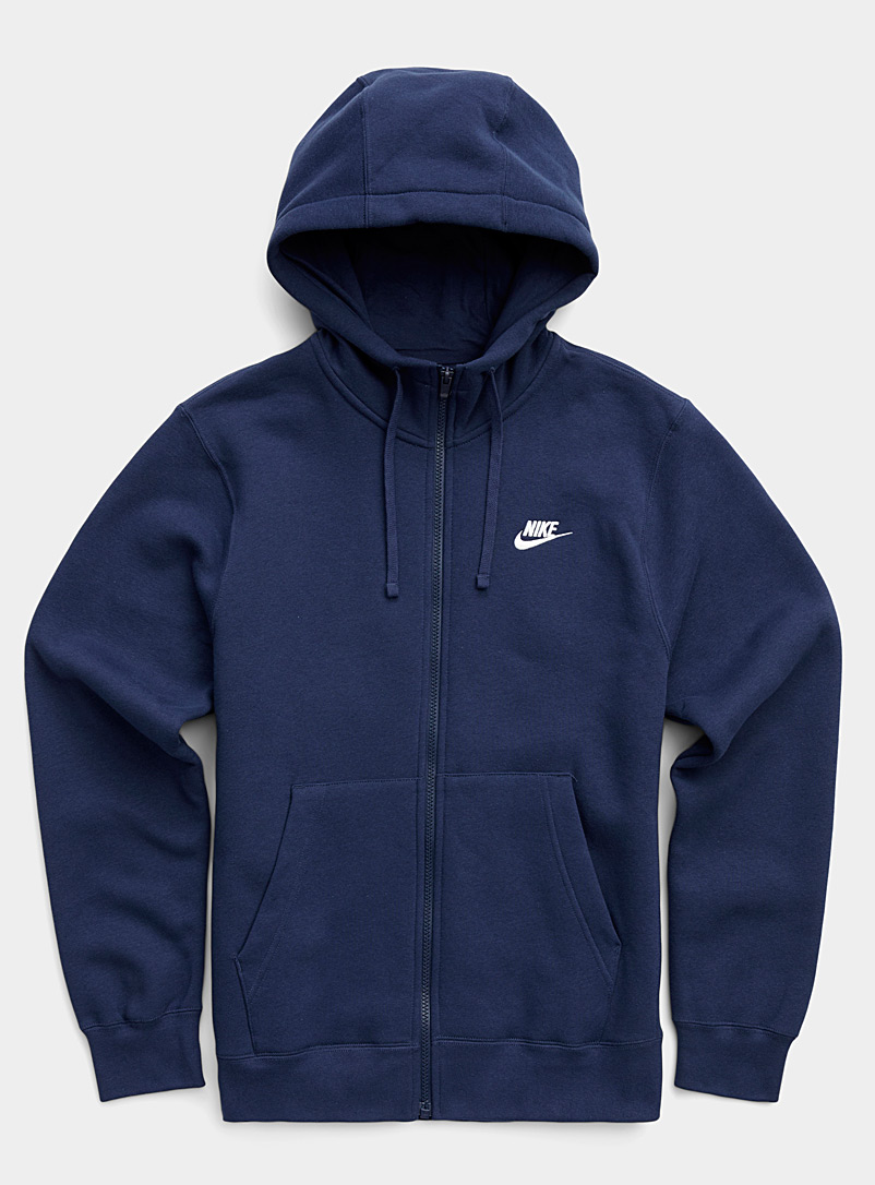 Nike Marine Blue Athletic hooded sweatshirt for men