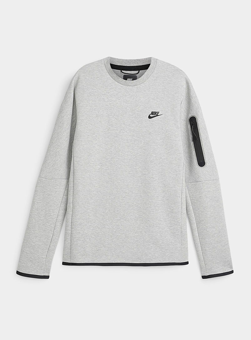 Tech pocket cotton fleece sweatshirt