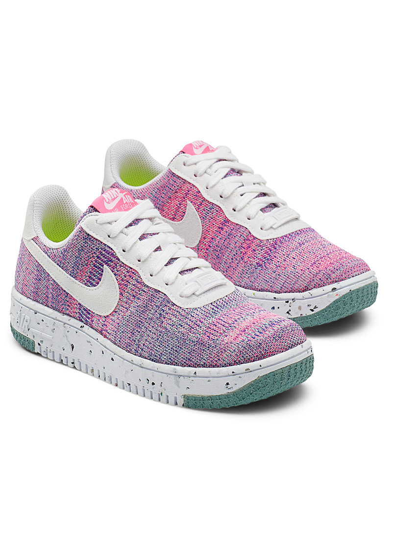 Nike Mauve Recycled Air Force 1 Crater Flyknit sneakers Women for women