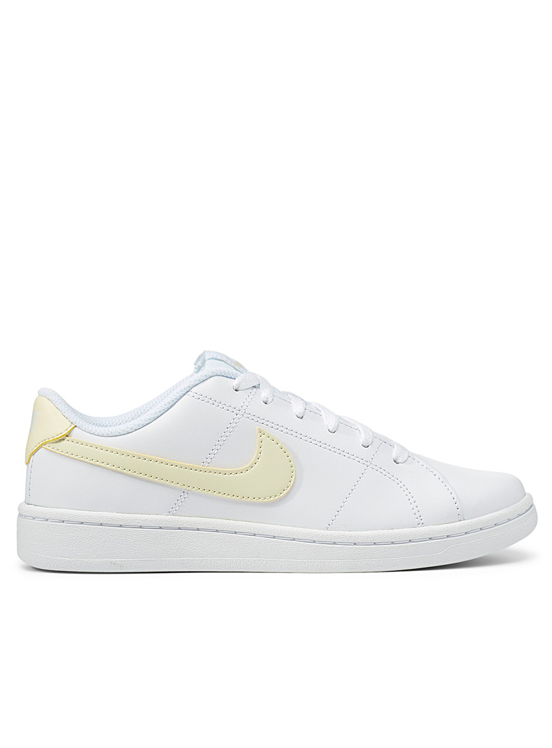 Nike White Court Royale 2 yellow-accent sneaker Women for women