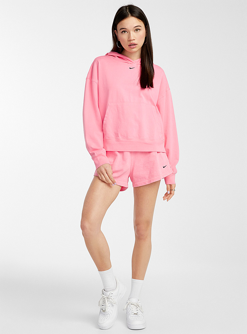 Nike Pink Fluorescent details hoodie for women