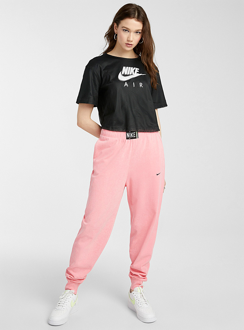Nike Pink Flash pink faded jersey joggers for women