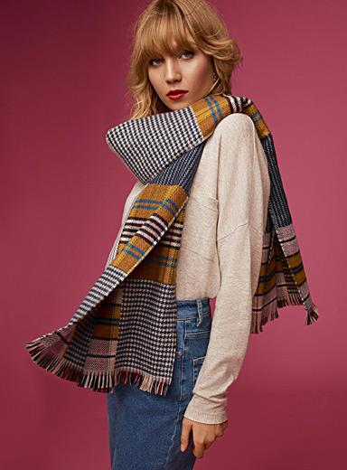 Patchwork style scarf