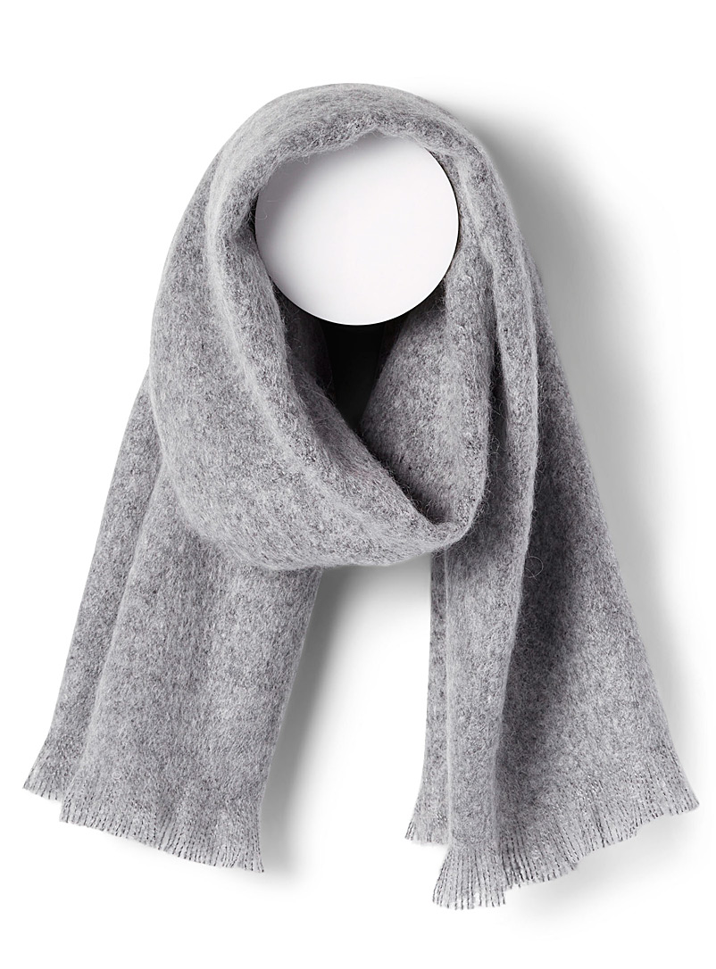Simons Silver Cocoon solid scarf for women