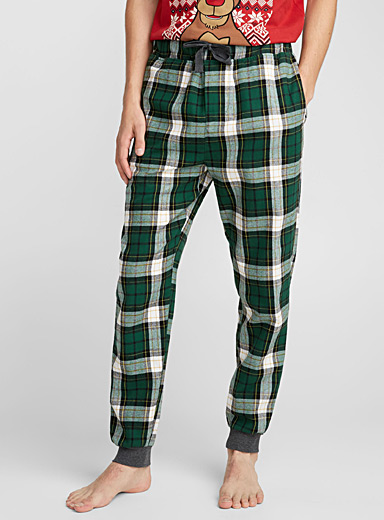 Rustic check flannel lounge pant