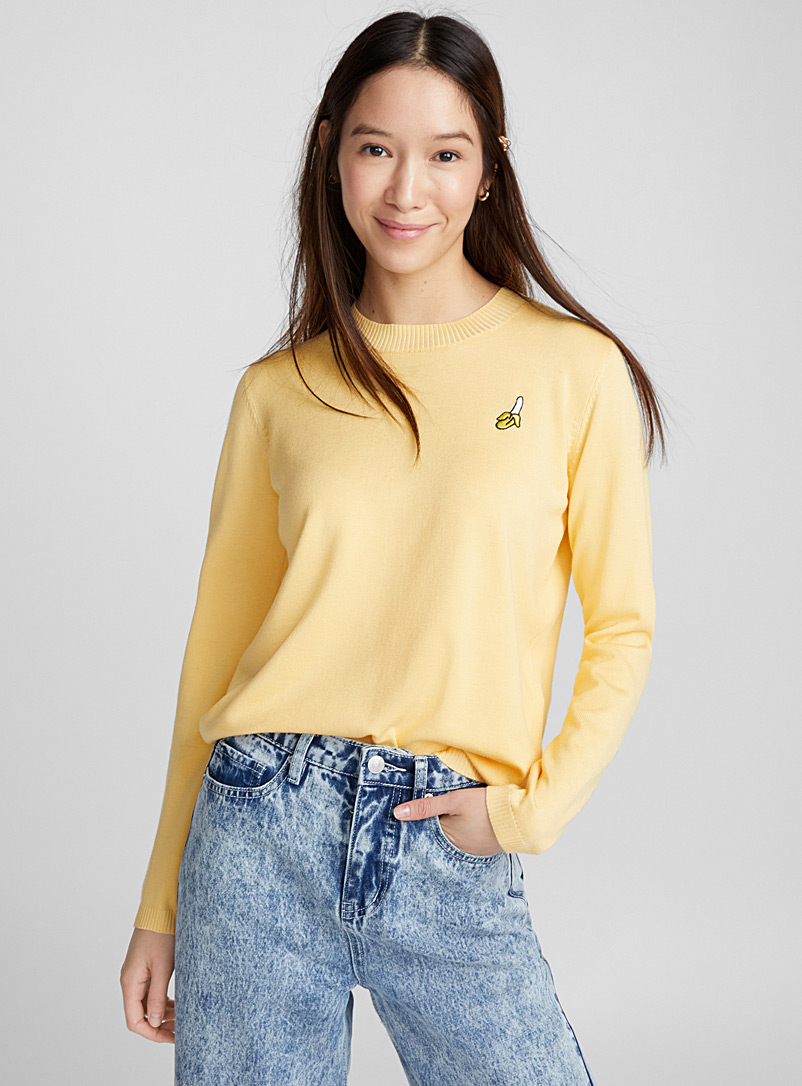 Organic banana sweater - Sweaters - Bright Yellow