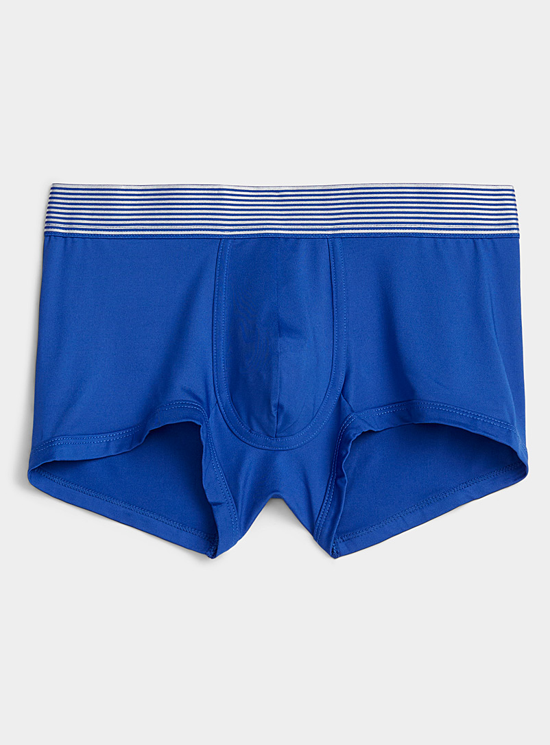 Le 31 Blue Striped-waistband microfibre trunk for men