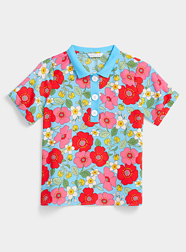 Bright flower polo