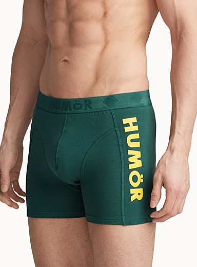 Humör Mossy Green Bright jersey boxer brief for men