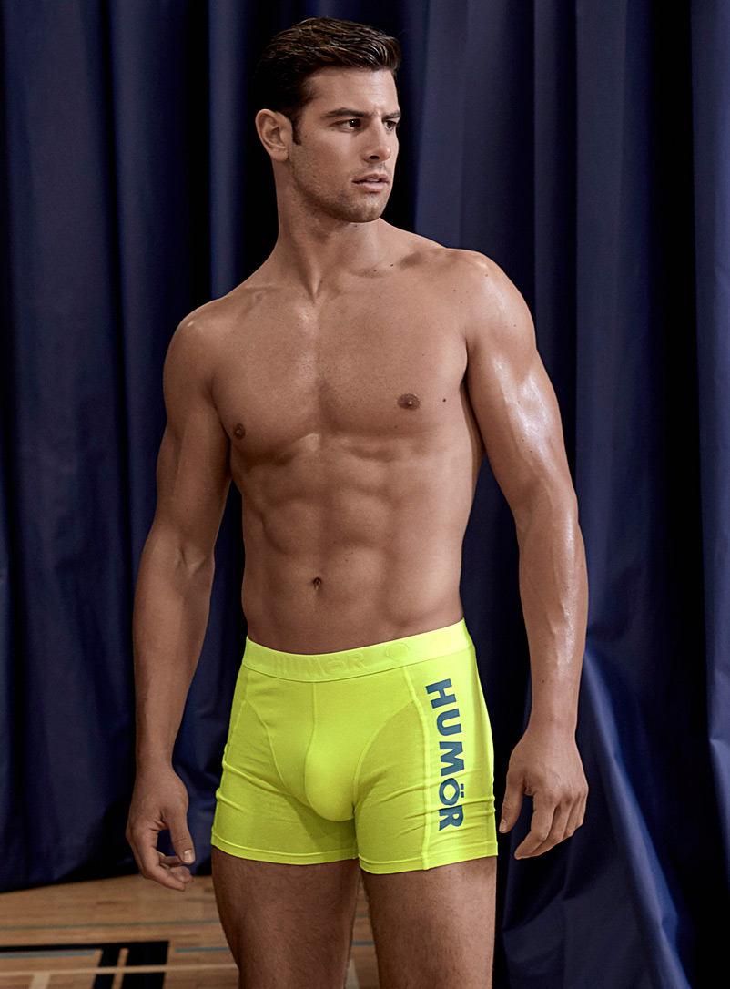 Hum?r Bright Yellow Bright jersey boxer brief for men