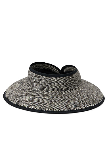 Packable soft straw visor