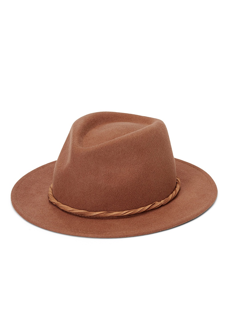 Twisted ribbon fedora