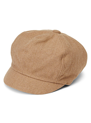 Wool newsboy cap