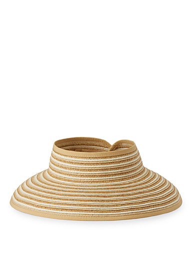 Packable striped straw visor