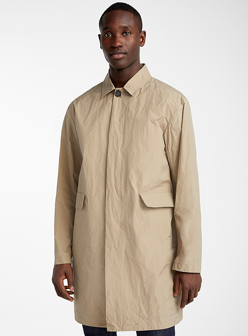 Dsquared2 Cream Beige Ultra light trench coat for men