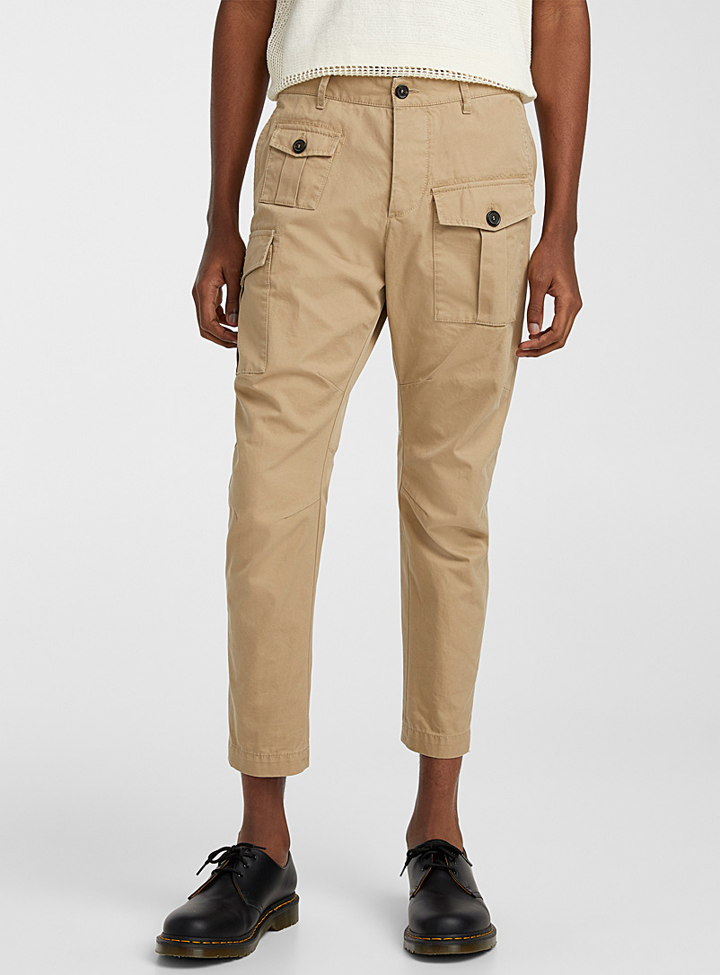 Dsquared2 Cream Beige Chino cargo pant for men
