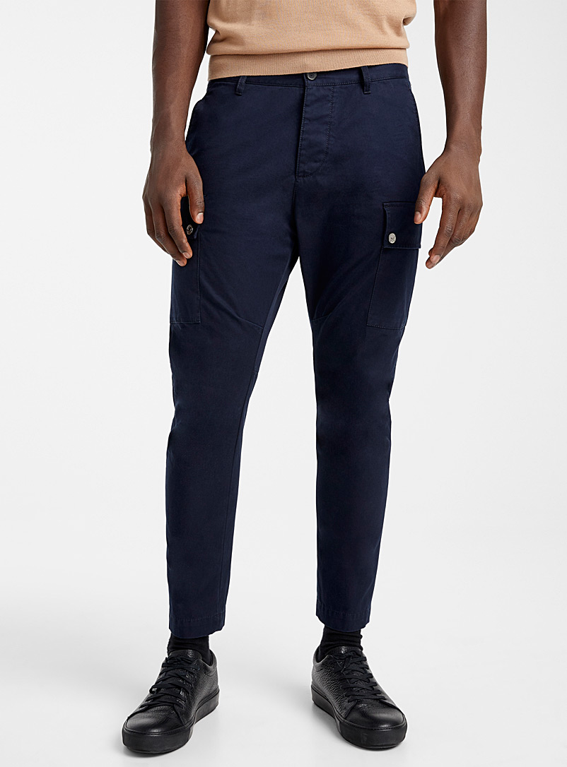 Dsquared2: Le pantalon Chino Sexy Cargo Marine pour homme