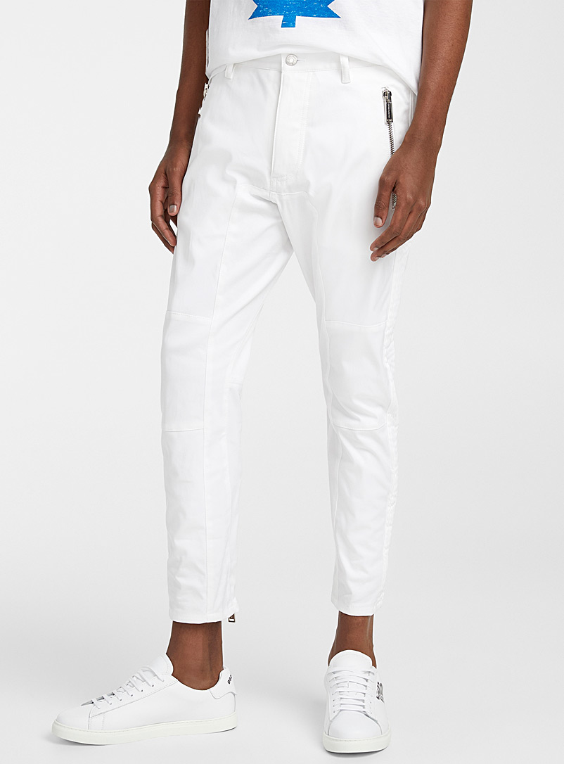 Dsquared2 White Sexy Biker jean for men