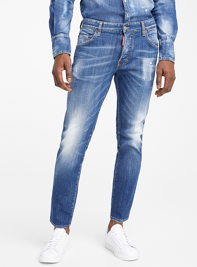 Dsquared2 Blue Skater distressed jean for men