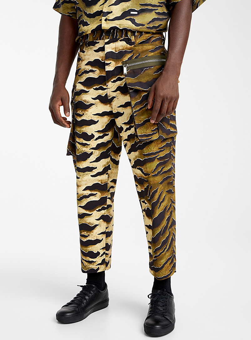 Dsquared2 Brown Tiger cargo pant for men