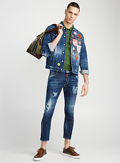 Tidy Biker paint splatter jean