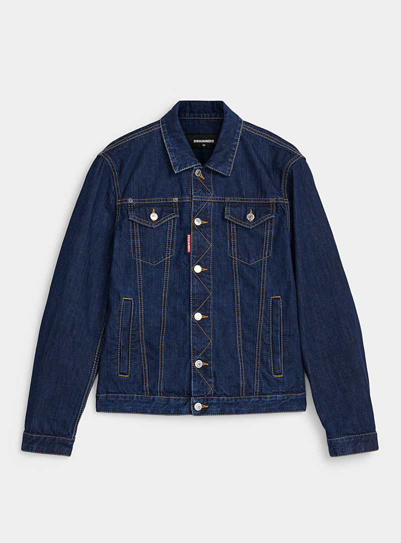 Dsquared2 Blue Dan jean jacket for men