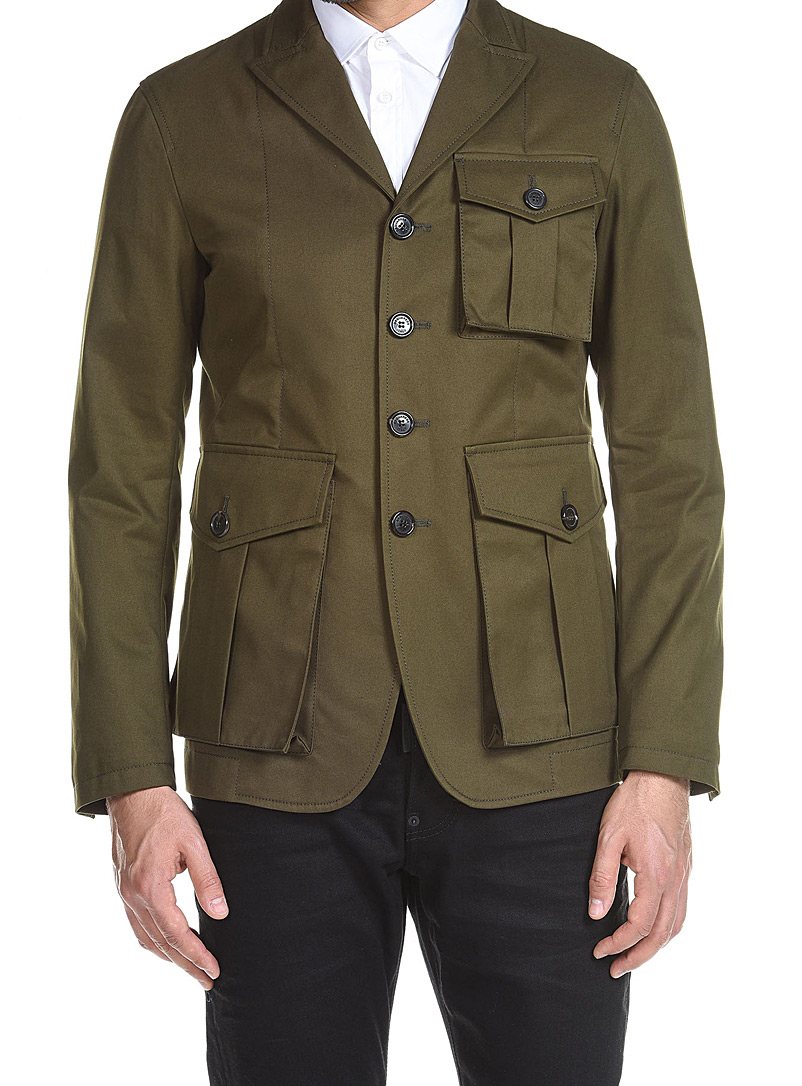 Dsquared2 Green Military Jacket for men