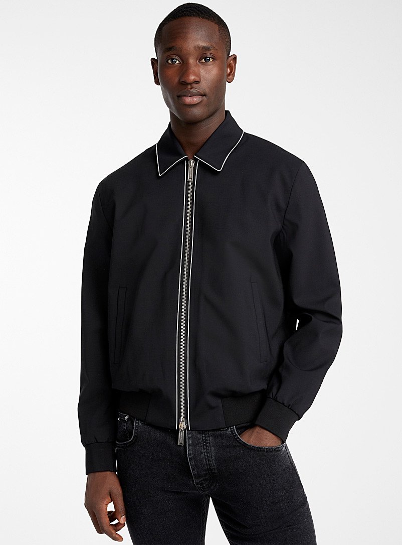 Dsquared2 Black Highlight Coach jacket for men