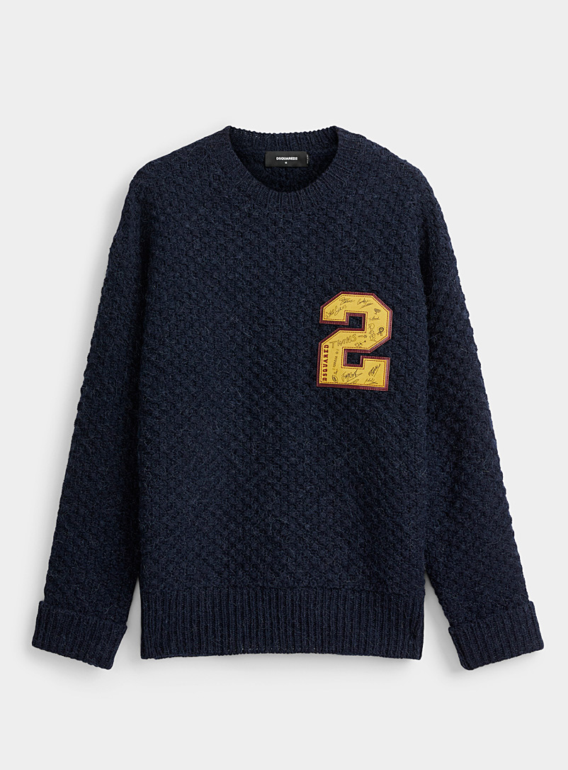 Dsquared2 Marine Blue Emblem 2 sweater for men