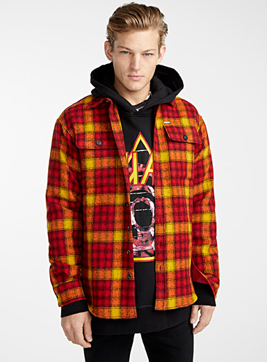Bright check overshirt