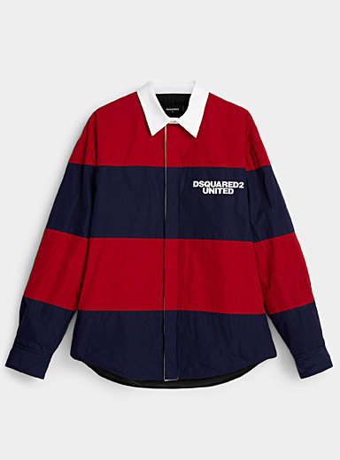 Dsquared2 Red United rugby shirt for men