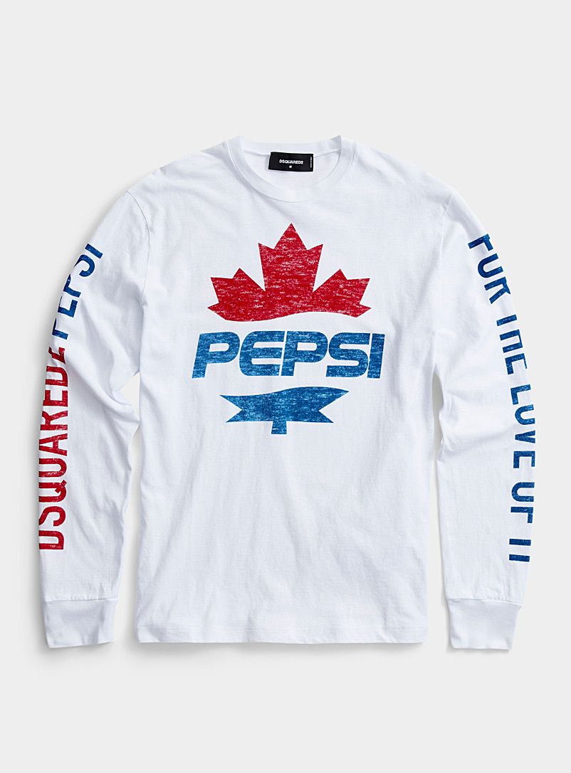 Dsquared2 White Long-sleeve Pepsi T-shirt for men