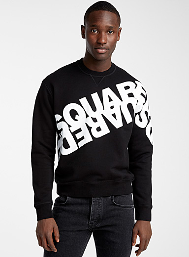 Mirror-like logo sweatshirt