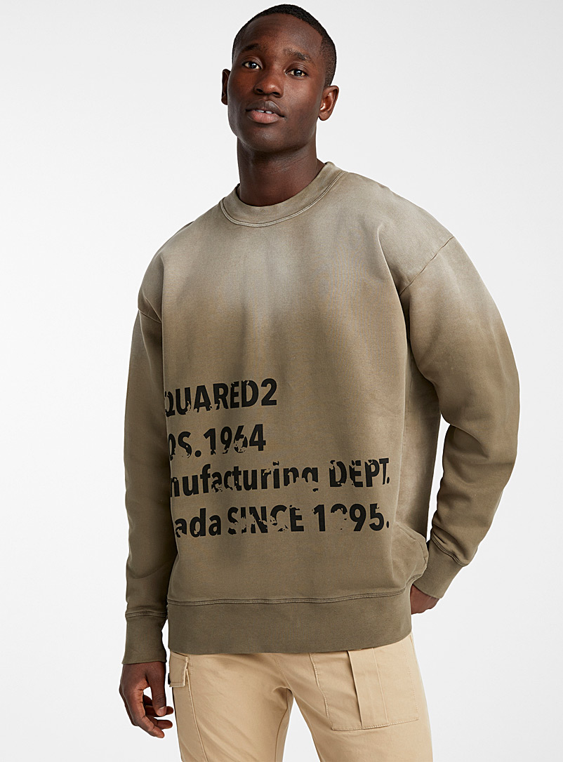 Dsquared2 Brown Industrial sweatshirt for men