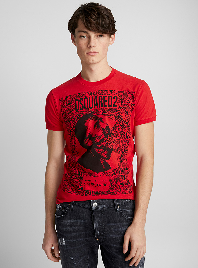 Caten Twins T-shirt - Dsquared2 - Red