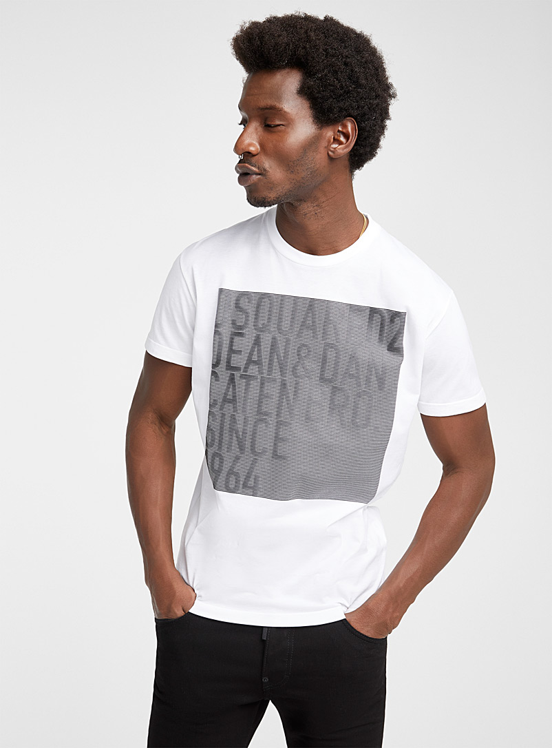 Dsquared2: Le t-shirt Faded Blanc pour homme