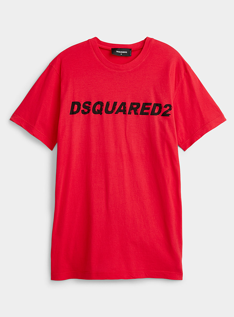 Dsquared2 Red Aerodynamic signature red T-shirt for men